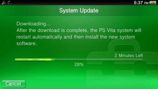 Вышло обновление стартовой прошивки PS Vita
