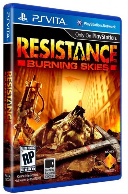 Обложка и дата выхода шутера Resistance: Burning Skies