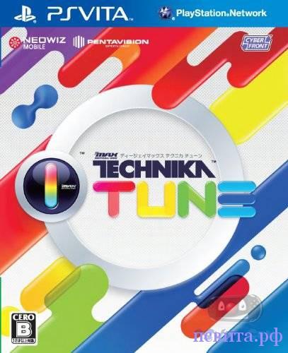 Обложка и геймплэй ритм-музыкальной игры DJ Max Technika Tune